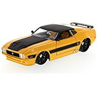 1973 Ford Mustang Mach 1, Yellow - Jada Toys Bigtime Muscle 96764 - 1/24 scale Diecast Model Toy Car (Ford 1 Mustang Mach)