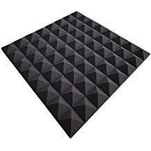 Mail2Mail Pyra Mousse Acoustique, Noppenschaumstoff, Isolation, ca.49 X cm X 49 cm X 2,5 cm,(Unité D'Emballage = 40 Panneaux = Env. 10 M²) - Anthracite Noir, Env. 49 X 49 X 2,5 Cm