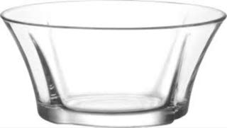LAV 74.5 Ounce Glass Bowl | Beautiful Geometric Round Shape, Made from Thick, Durable Glass, Great for Salads, Dessert, Fruit, and More, Microwave and Dishwasher Safe