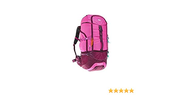 Amazon.com : Quechua Forclaz Backpacking Packs Rucksack Hiking Daypacks Camping Outdoor Water Repellent Forclaz 50L (Pink) : Sports & Outdoors