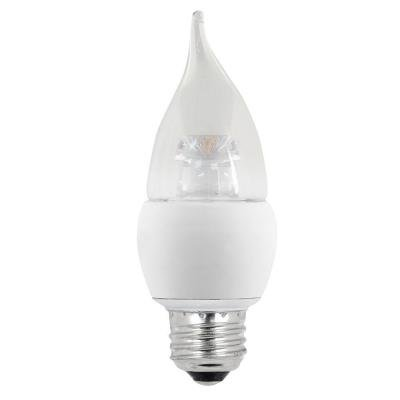 EcoSmart 60W Equivalent Soft White (2700K) B10 Medium Base LED Light Bulb