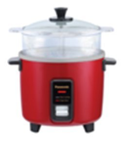 PANASONIC SR-W10FGEL Automatic Rice Cooker/ Steamer - Color BURGUNDY