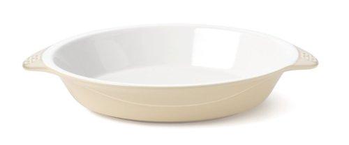 Calphalon Ceramic Vanilla 9 Inch Deep Dish Pie Pan