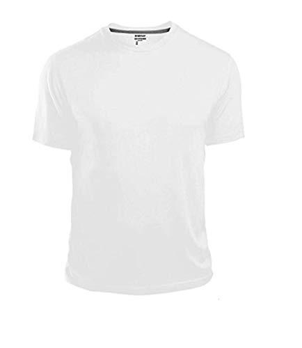 GAP Men's Crew Neck Cotton T Shirt Everyday Quotidien Solid Color (White, Large)