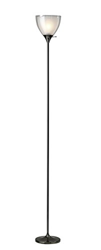 Adesso 3565-01 Presley Floor Lamp, Nickel Black (Presley Light)
