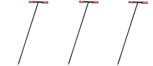 Bully Tools 99203 Soil Probe Steel Tstyle Handle, 48_inch (Pack of 3) by Bully Tools