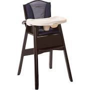 Eddie Bauer Classic 3-in-1 Wood High Chair ONYX by Eddie Bauer