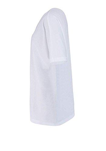 drykorn Kurzarm T-Shirt Adala Rundhals Glitzergarn Weiß