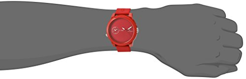 Tommy Hilfiger Men's 'Denim' Quartz Plastic and Rubber Watch, Color:Red (Model: 1791323)