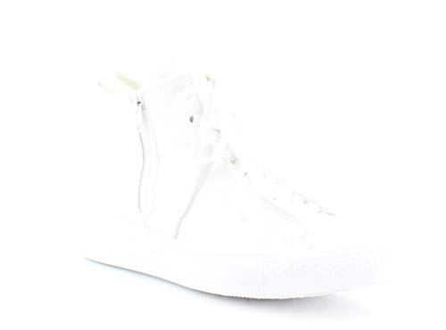 (Converse Chuck Taylor All Star Hi Top Selene Monochrome Leather White)