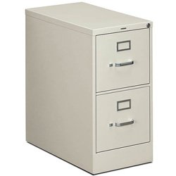 Hon 310 Series Two-Drawer, Full-Suspension File, Letter, 26-1/2d, Light Gray (HON312PQ) Category: Metal Vertical File Cabinets
