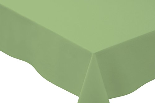 Tablecloth Basic (Bright Settings 70 x 144 Inch Rectangle Tablecloth, Flame Retardant Basic Polyester, Mint)