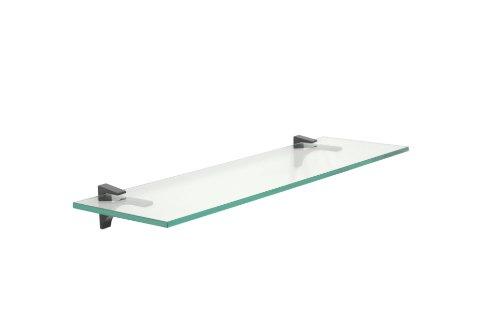 [Clear Floating Glass Shelf 10
