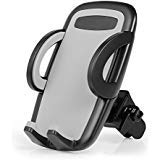 Air Vent Phone Holder, Amoner Car Mount with Quick Release Button Adjustable Clamp for iPhone X/8/8 Plus/7/7 Plus/6s/6s Plus/5s, Samsung Galaxy S9/S8/S7/S6/S5, LG Nokia Sony Motorola and More