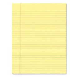 Office Depot Glue-Top Writing Pads, 8 1/2in. x 11in, Legal Ruled, 50 Sheets, Canary, Pack Of 12 Pads, 99412