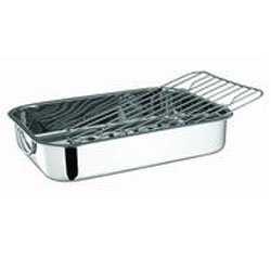 Professional Kitchen Quality Stainless Steel Roaster, Lasagna Pan, Casserole Dish W/ Roasting Rack for Everything From Thanksgiving Turkey to Easter Hams or Any Holiday Meal