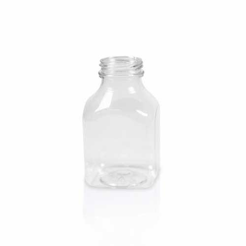 Carefree DB08PET - 8 Ounce PET Clear Plastic Juice Bottle Base - 160 per case by Carefree