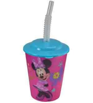 6-Pack Disney Minnie Mouse 12oz Lenticular Tumbler Cup with Lid and Straw]()
