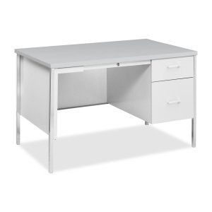 HON Right Pedestal Desks, 48 by 30 by 29-1/2-Inch, Light Gray