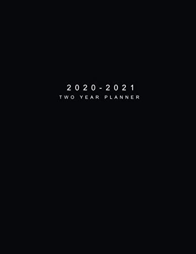 2020-2021 Two Year Planner: Black Cover | 24 Months Agenda Planner with Holiday | Jan 2020 - Dec 2021 Two Year Personalized Planner, Password Log | ... Monthly Calendar Appointments Planner)