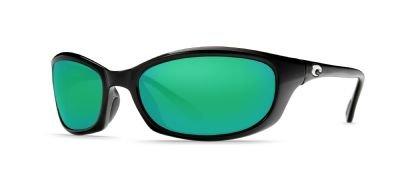 Costa Del Mar Harpoon Sunglass, Black, Green Mirror 400Glass