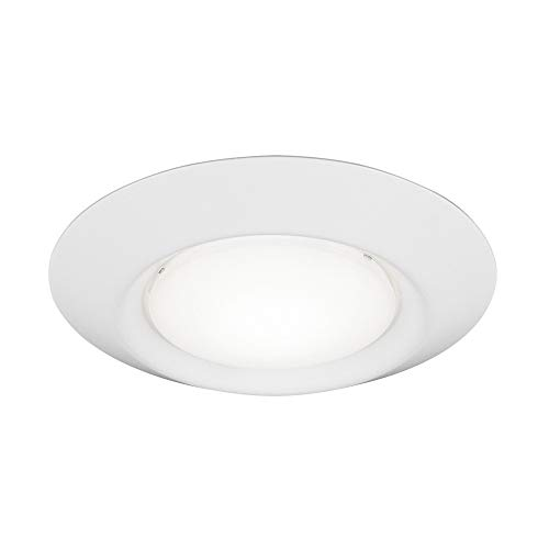 Sea Gull Lighting 14520S-15 Traverse LED Lyte 6in Traverse-Lyte Round T24 3000K 90CRI White Hanging Modern Light Fixture, White Finish from Sea Gull Lighting