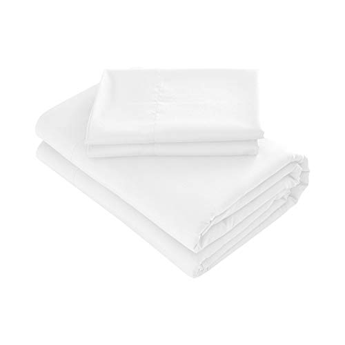 - Prime Bedding Bed Sheets - 4 Piece Full Size Sheets, Deep Pocket Fitted Sheet, Flat Sheet, Pillow Cases - White
