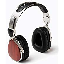 Symphonized Wraith Premium Genuine Wood On-Ear Headphones with in-Line Microphone, Tangle-Free Noise-Isolating Wired Stereo Earphones with Spare Replacement Cable Included (Cherry Finish)