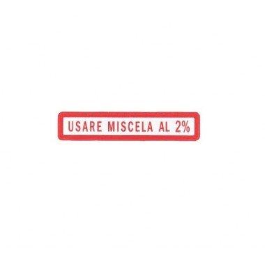 RMS adesivo etichetta USARE MISCELA AL 2% VESPA 50-125/PV/E3/125/GTR/SUPER GT/TS SPRINT V/150////SUPER PE PX-RALLY RMS_CLASSIC