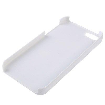 """iPhone 5 / 5S Premium Hülle / Case / Cover im """"Alu Style"""" in weiß und blau aus Hartplastik mit Herz-Original nur von THESMARTGUARD-"""