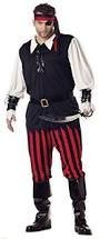California Costumes Men's Adult Cutthroat Pirate Costume with Pirate Cutlass, White/Black/Red, (Top Men's Halloween Costumes 2016)