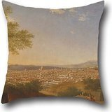 (Throw Pillow Covers Of Oil Painting Thomas Patch - A Panoramic View Of Florence From Bellosguardo 16 X 16 Inches / 40 By 40 Cm,best Fit For Car Seat,wedding,dining Room,wedding,play Room Double Sides)