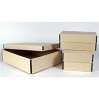Archival Methods Metal Edge Short Top Box 5 x 8'' Cards/Stereos 10.5 x 8-1/8x5-1/8'', Tan
