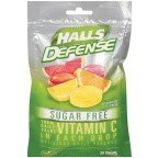 Halls Defense Sugar-Free Vitamin C Citrus 25 Drops/Pack (Pack of 6)