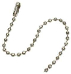 Industrial Grade 2YB23 Chain, Beaded, Nickel Plated, 4.5 In, Pk100