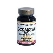 Windmill B-Complex With Choline and Inositol Tabs 100'S Windmill