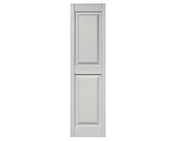 Paintable Raised Panel (Mid-America Williamsburg Raised Panel Vinyl Standard Shutter - 1 Pair 14.75 x 63 030 Paintable)