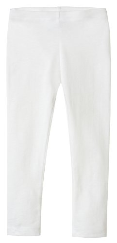 City Threads Girls' Leggings 100% Cotton for School Uniform Sports Coverage or Play Perfect for Sensitive Skin or SPD Sensory Friendly Clothing, White, 10