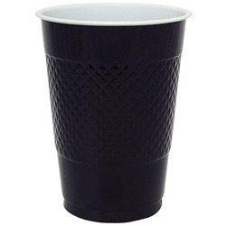 18 Oz Black Plastic Cups - 50 Pk