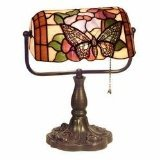 Tiffany Style Banker Butterfly Desk Lamp (Light Bankers Desk)