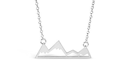 Mountain Necklace for Outdoor Lovers and Hikers - Gold & Silver Tone (Mountain Necklace)