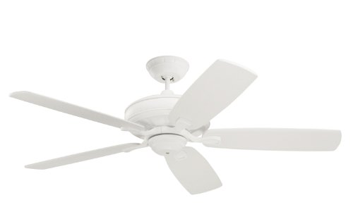 - Emerson Ceiling Fans CF788SW Carrera Grande Eco Indoor Outdoor Ceiling Fan With 6-Speed Wall Control, Energy Star And Damp Rated, Blades Sold Separately, Light Kit Adaptable, Satin White Finish