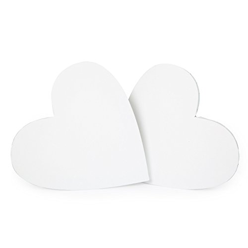 Transon Artist Stretched Canvas for Painting Special Love Heart Shape 2 Pcs Size 12