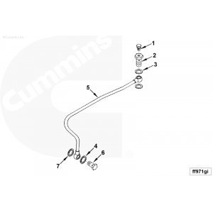 Cummins 3936691 Updated Fuel Supply Tube for 94-98 12v p7100