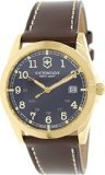 Victorinox Swiss Army Infantry Brown Dial Gold-Tone SS Quartz Male Watch 241645 (Army Wrist Quartz Swiss Watch)