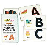 (MFM TOYS Sandpaper Tactile English Uppercase Letters Flashcards)