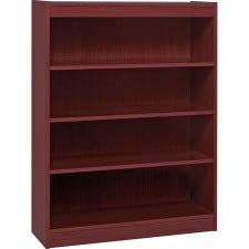 - Lorell 4-Shelf Panel Bookcase, 36 by 12 by 48-Inch, Mahogany