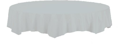 Creative Converting Octy-Round Paper Table Cover, 82-Inch, Shimmering (Round Poly Table Covers)