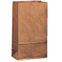 4# Brown Kraft Standard-Duty Paper Bags - 5 x 3 1/3 x 9 3/4 (DRO80007)
