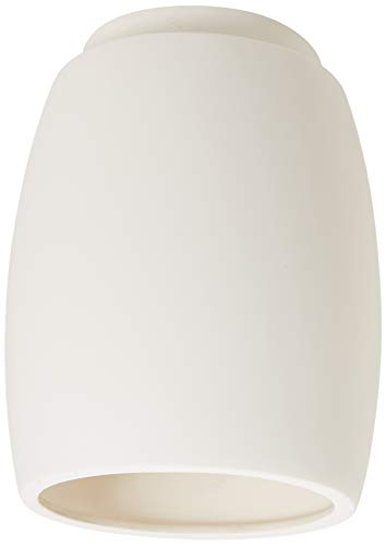 Justice Design Group Lighting CER-6130W-BIS Outdoor Flush-Mount with Ceramic Bisque Shades, White
